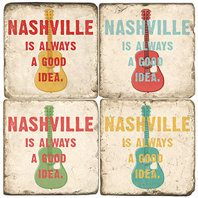 Nashville Coaster Set. Handcrafted Marble Giftware by Studio Vertu.