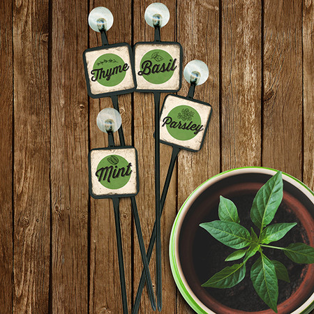 Garden Herb Plant Markers by Studio Vertu.