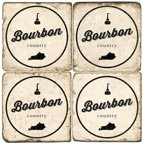 Bourbon Country Coaster Set. Handcrafted Marble Giftware by Studio Vertu.