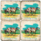 Kentucky Derby Themed Coaster Set. Handcrafted Marble Giftware by Studio Vertu.