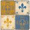 Antique Fleur De Lis Coaster Set. Handcrafted Marble Giftware by Studio Vertu.