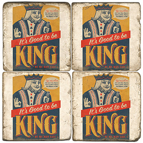 Playing Cards Coaster Set. License artwork by Anderson Design Group. Handmade Marble Giftware by Studio Vertu.