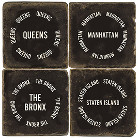 New York City Coaster Set. Handcrafted Marble Giftware by Studio Vertu.