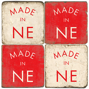 Made in Nebraska Coaster Set. Handcrafted Marble Giftware by Studio Vertu.