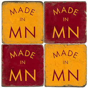 Made in Minnesota Coaster Set. Handmade Marble Giftware by Studio Vertu.