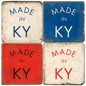 Made in Kentucky Coaster Set. Handcrafted Marble Giftware by Studio Vertu.
