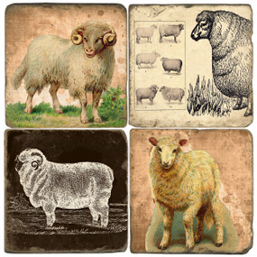Year Of The Sheep Coaster Set