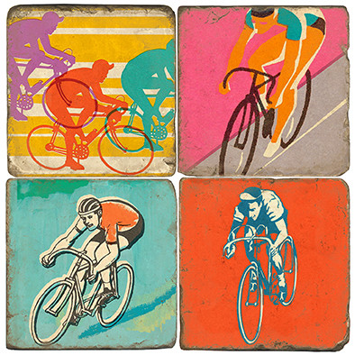 Retro Bicycle Set. Handcrafted Marble Giftware by Studio Vertu.