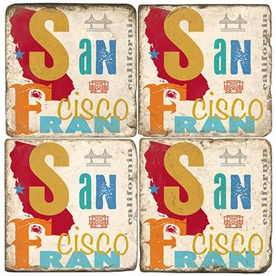 San Francisco Set. Handmade Marble Giftware by Studio Vertu.