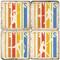 Illustrated Tennis Coaster Set. Handmade Marble Giftware by Studio Vertu.