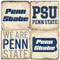 Penn State Coaster Set. Handcrafted Marble Giftware by Studio Vertu.