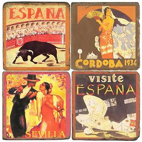 Spain Coaster Set. Handcrafted Marble Giftware by Studio Vertu.