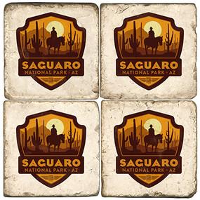 Saguaro National Park. License artwork by Anderson Design Group. Handcrafted Marble Giftware by Studio Vertu.