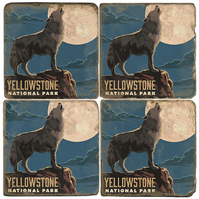 Yellowstone National Park Coaster Set. Handcrafted Marble Giftware by Studio Vertu.
