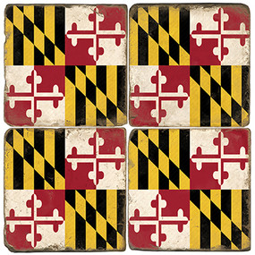 Maryland Coaster Set. Handcrafted Marble Giftware by Studio Vertu.