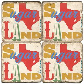 Sugarland Texas Coaster Set. Handcrafted Marble Giftware by Studio Vertu.
