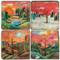 Sticks Landscapes Coaster Set. Handcrafted Marble Giftware by Studio Vertu.