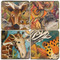 Exotic Animals Coaster Set. Handcrafted Marble Giftware by Studio Vertu.