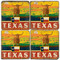 Texas Lone Star coaster set. Handmade Marble Giftware by Studio Vertu.