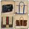 Designer Handbag Coaster Set. Handcrafted Marble Giftware by Studio Vertu.