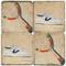 Vintage Tennis Coaster Set. Handcrafted Marble Giftware by Studio Vertu.