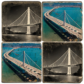Oakland Bay Bridge Coaster Set