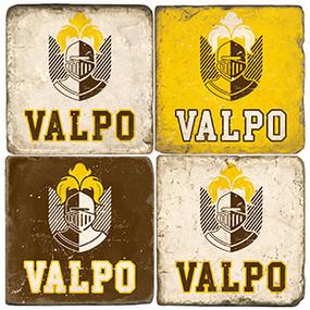 Valpo University Coaster Set. Handcrafted Marble Giftware by Studio Vertu.