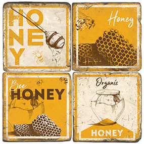 Vintage Honey Coaster Set
