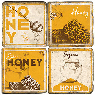 Vintage Honey Coaster Set