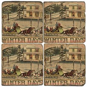 Vintage winter holiday set. Handcrafted Marble Giftware by Studio Vertu.