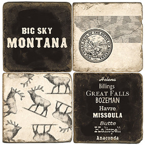 Big Sky Montana Coaster Set