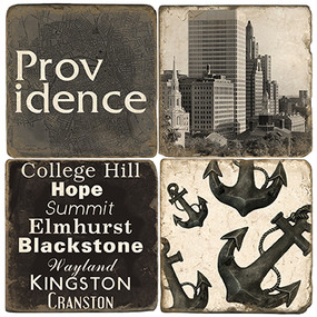 Black & White Providence Coaster Set