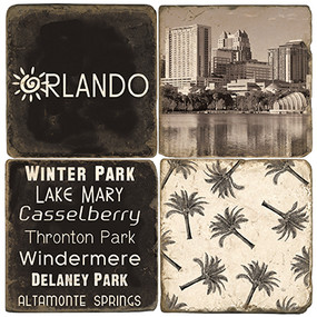 Black & White Orlando Coaster Set