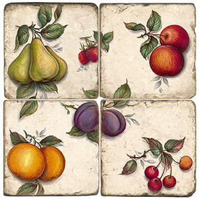 Summer Fruit Coaster Set