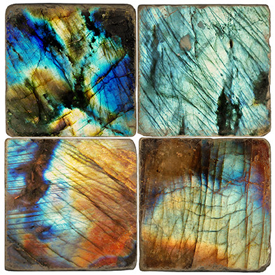 Labradorite Pattern Coaster Set