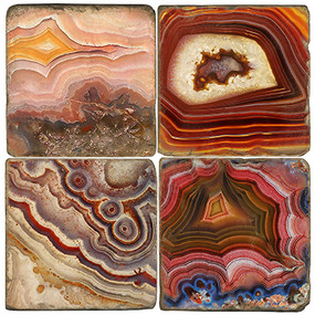 Banded Agates Coaster Set