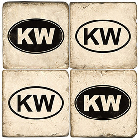 Black & White KW Coaster Set