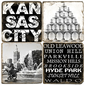 Black & White Kansas City Coaster Set