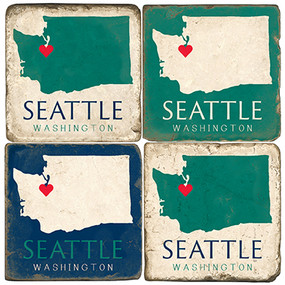 Seattle, Washington Set Coaster Set