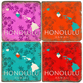 Honolulu, Hawaii Coaster Set