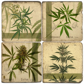 Cannabis Coaster Set