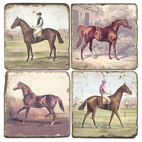 Horse and Rider Coaster Set
