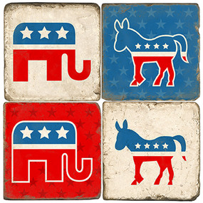 Republican and Democratic Party Coaster Set