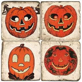 Halloween Pumpkin Coaster Set