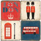 British Icons Coaster Set. Handmade Marble Giftware by Studio Vertu.