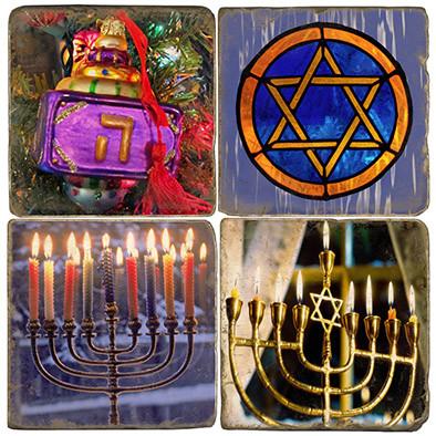 Hanukkah Themed Coaster Set