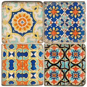 Colorful Floor Tile Coaster Set