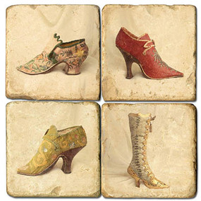 Women's Vintage Shoe Coaster Set