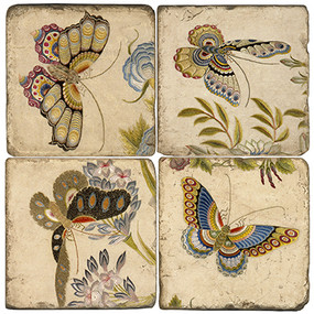 Colorful Butterfly Coaster Set