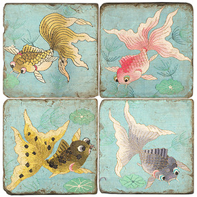 Colorful Goldfish Coaster Set